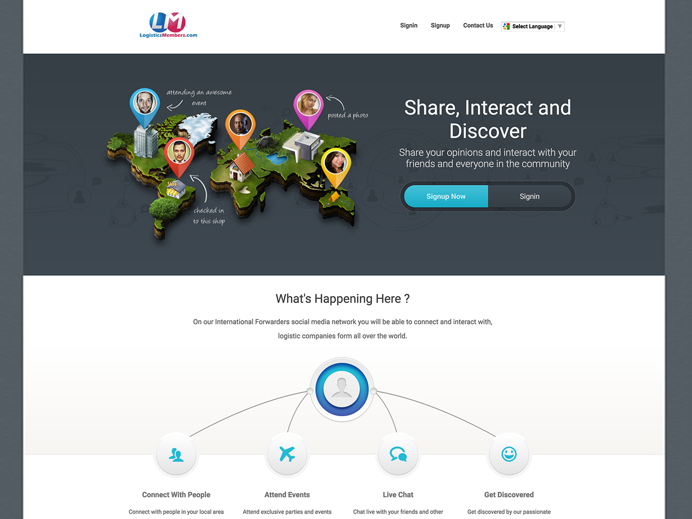 LogisticsMembers - Social Media Website For Transportation Companies