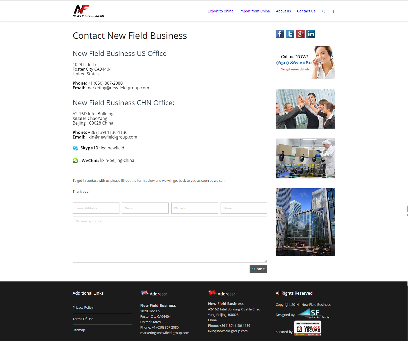 Newfield-Business-website-design-contact