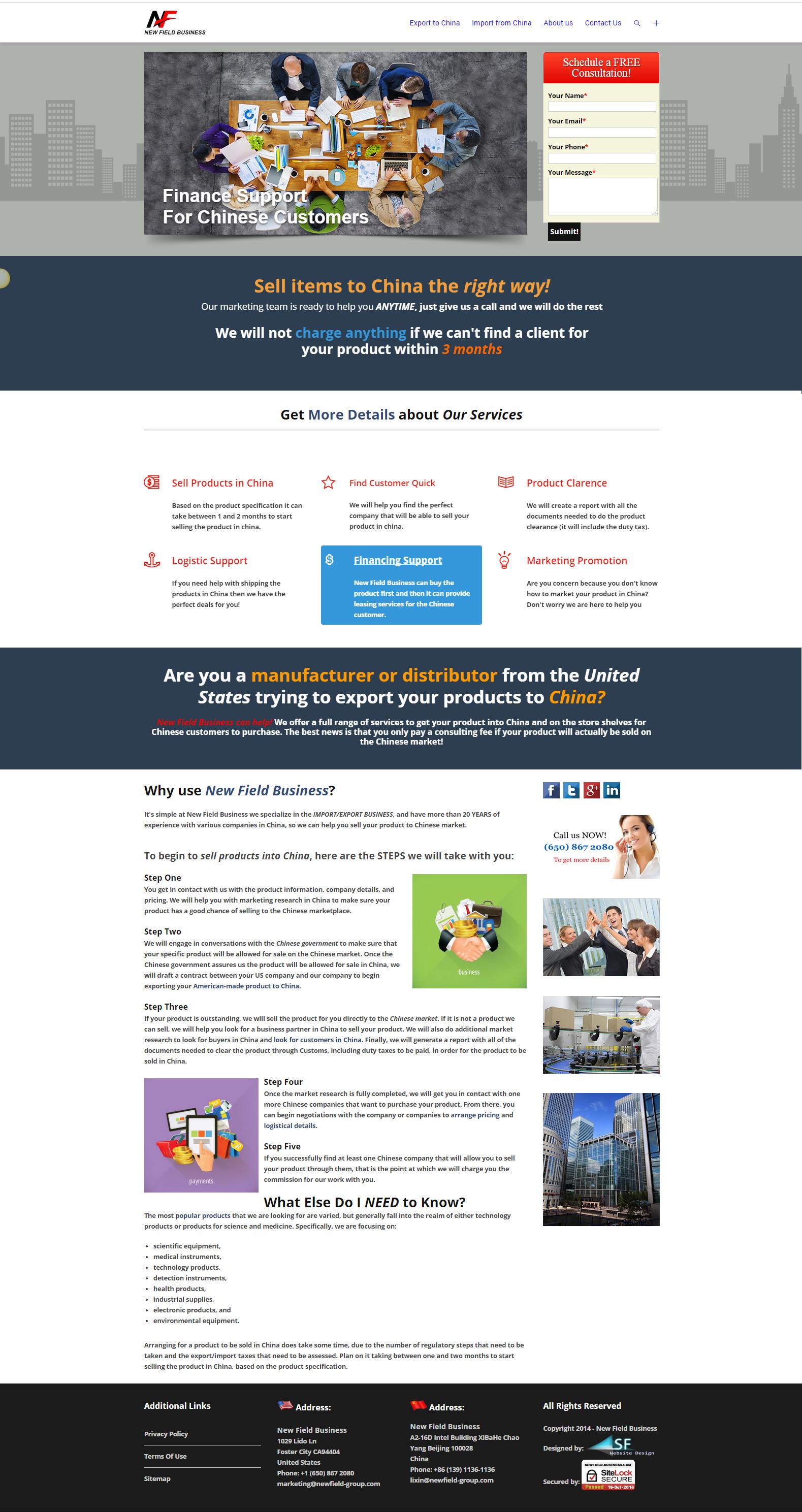Newfield-Business-website-design-home