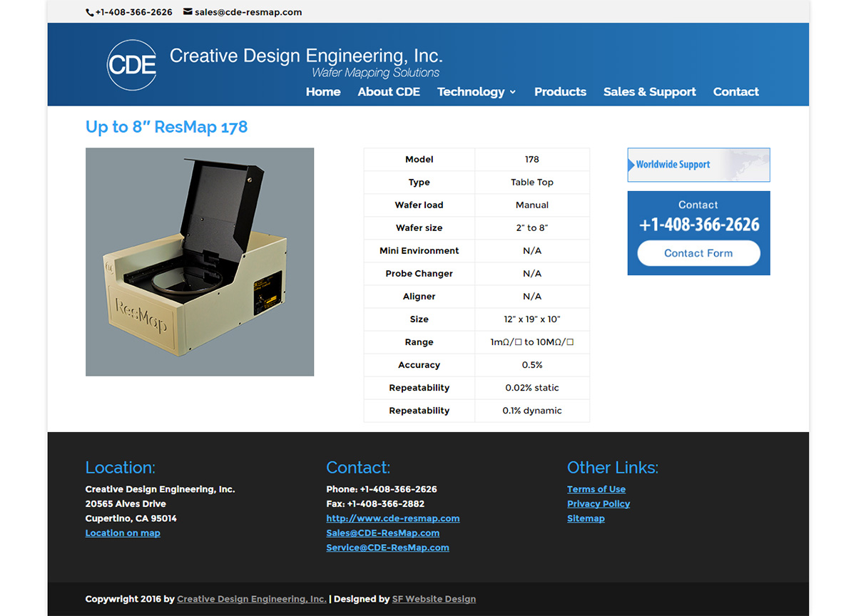 Creative Design Engineering - Technology Website Desing