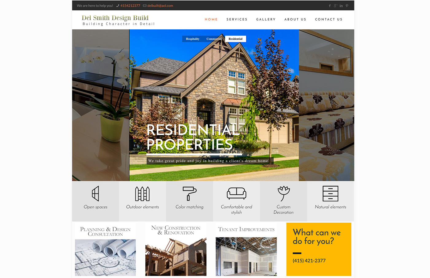 Del Design and Build construction website design in san francisco