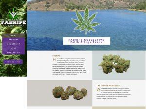 Fabripe Colective Medical Marijuana Website Design