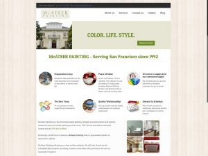 Mcateer Painting website design for painting company