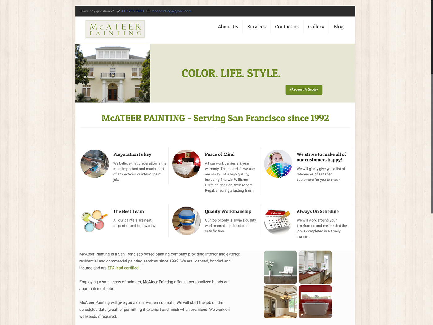 Mcateer-Painting-website-design-for-painting-company