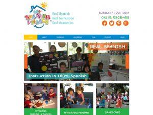 My Spanish Village Spanish Immersion Preschool Website Design