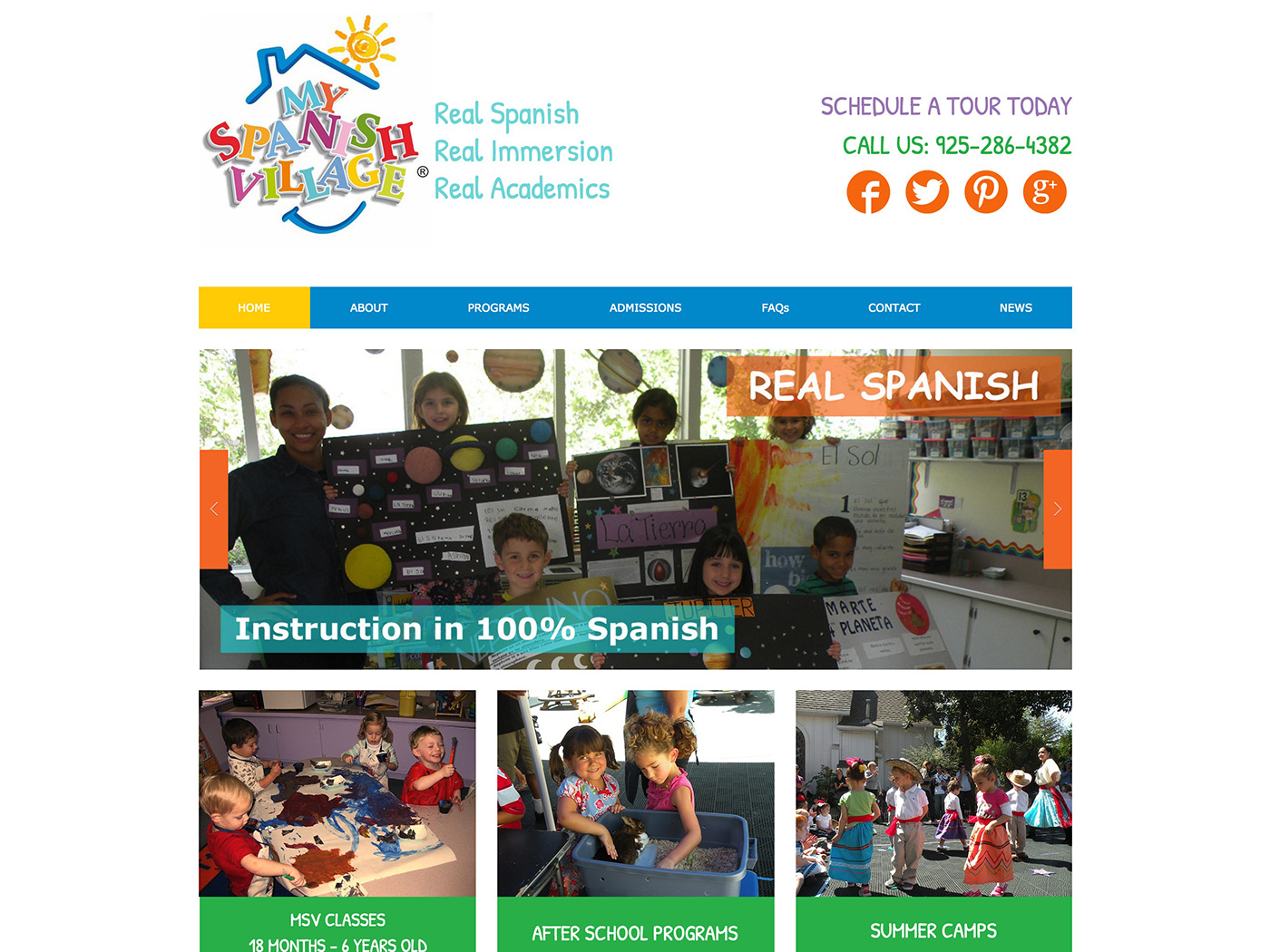 My Spanish Village Spanish Immersion Preschool Website Design