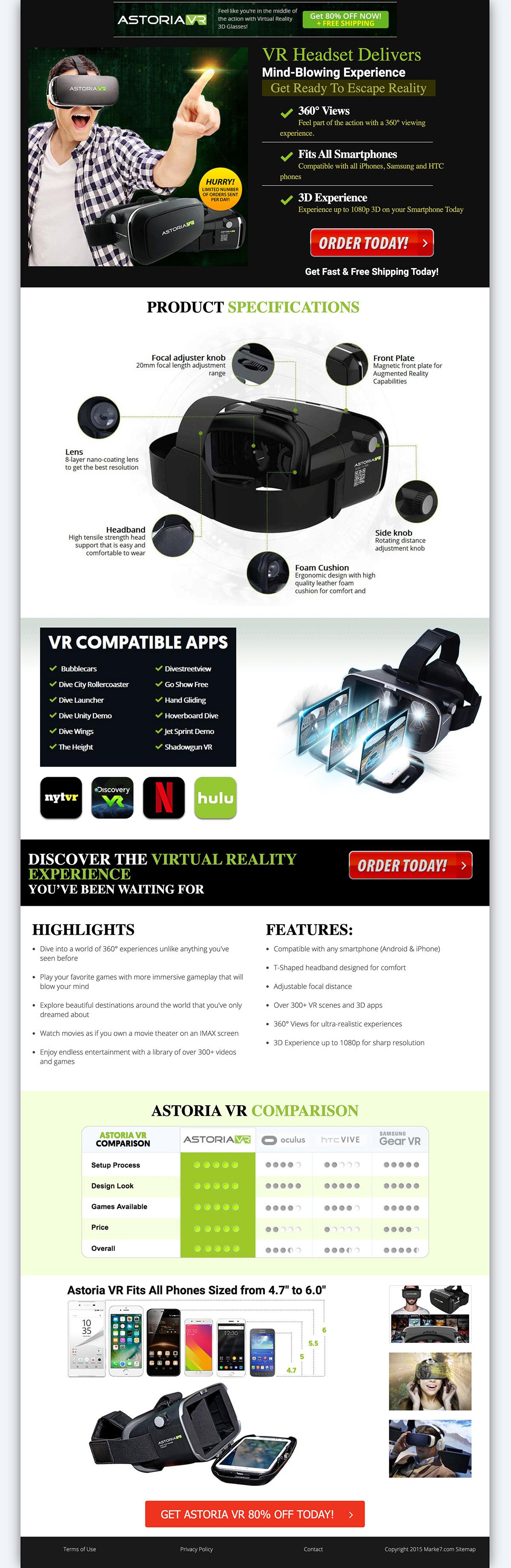 Astoria VR 3D Headset affiliate marketing