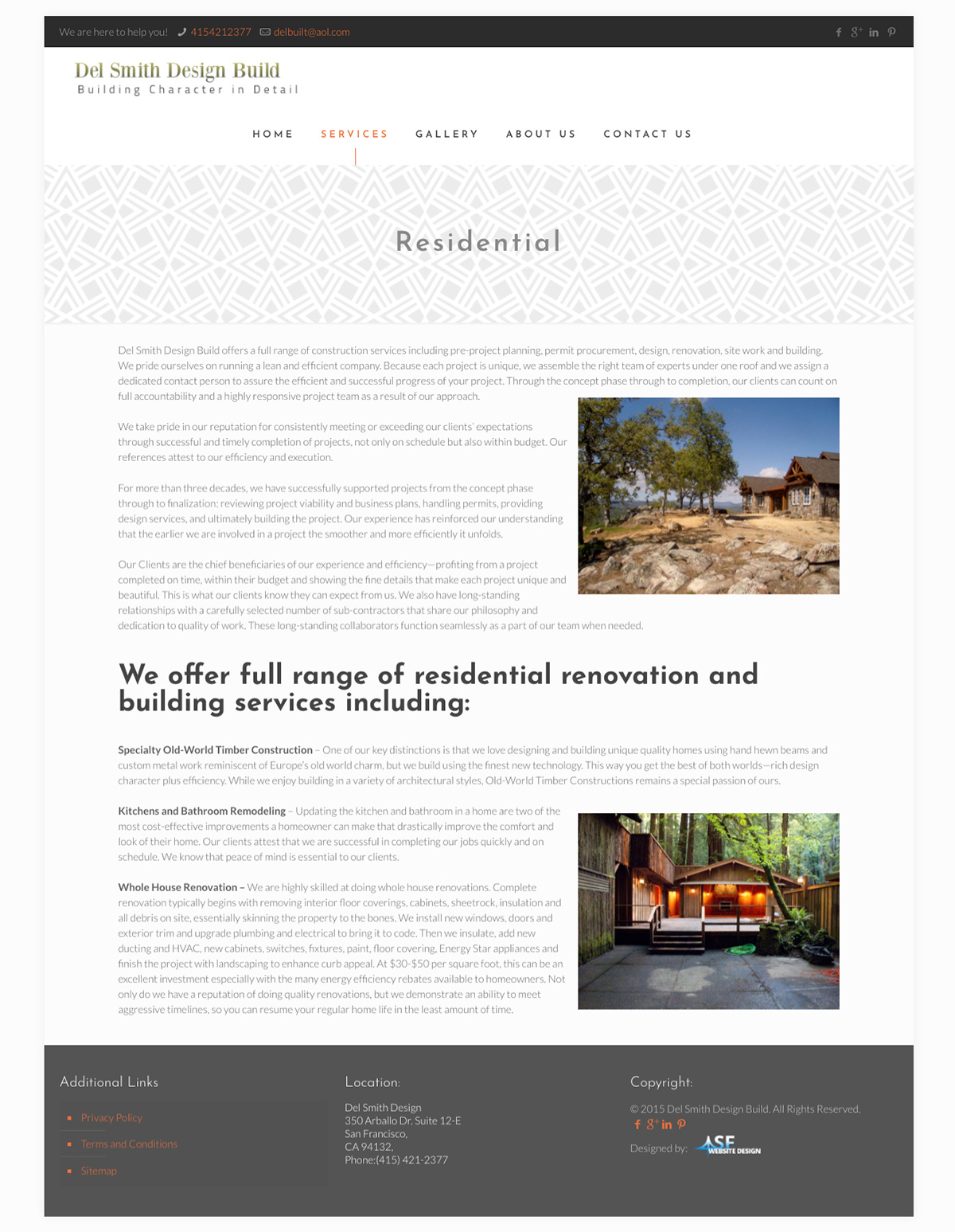 Del Smith Design Build builder contracting web design