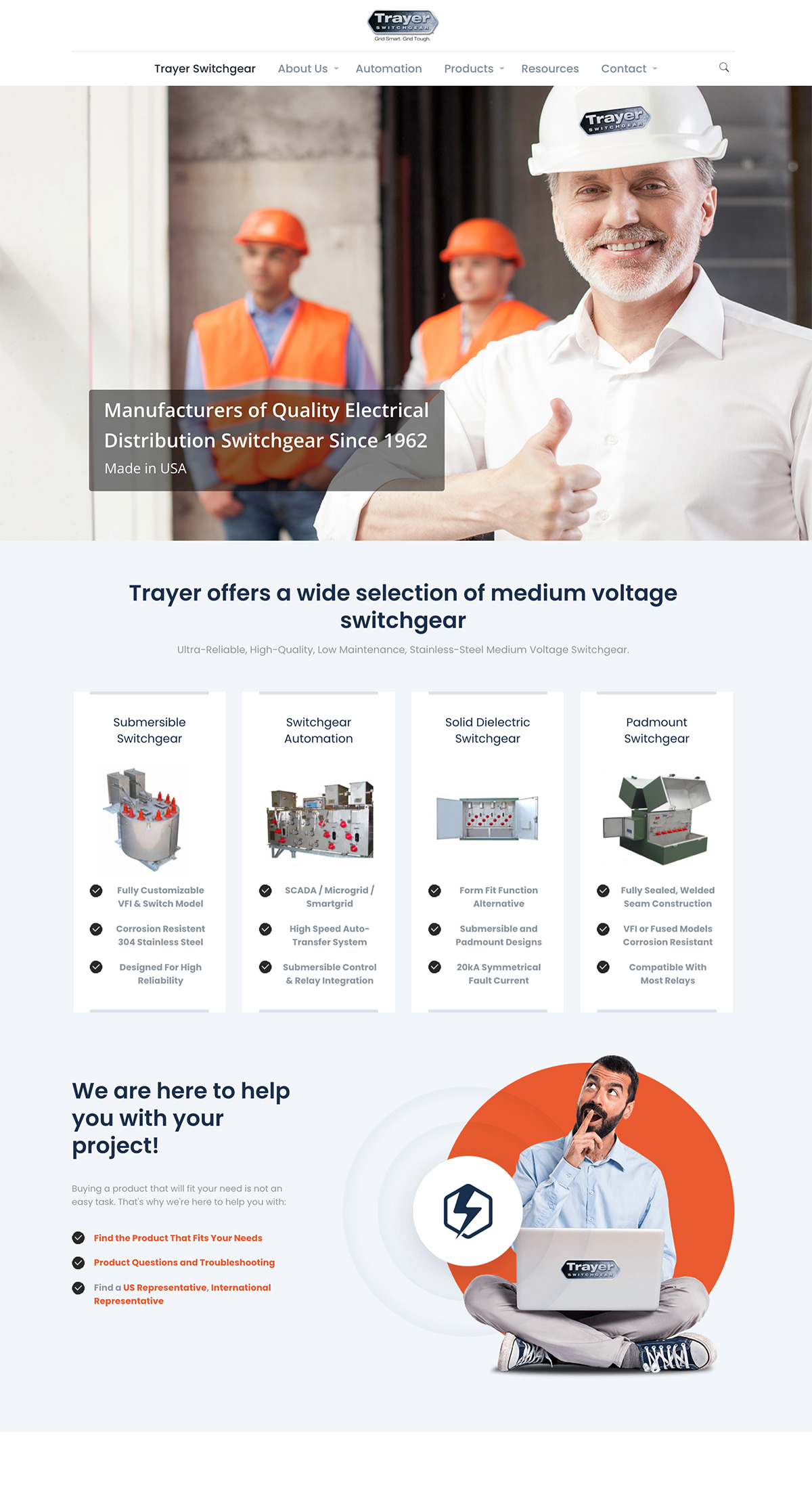 Trayer Engineering Corporation company web design after
