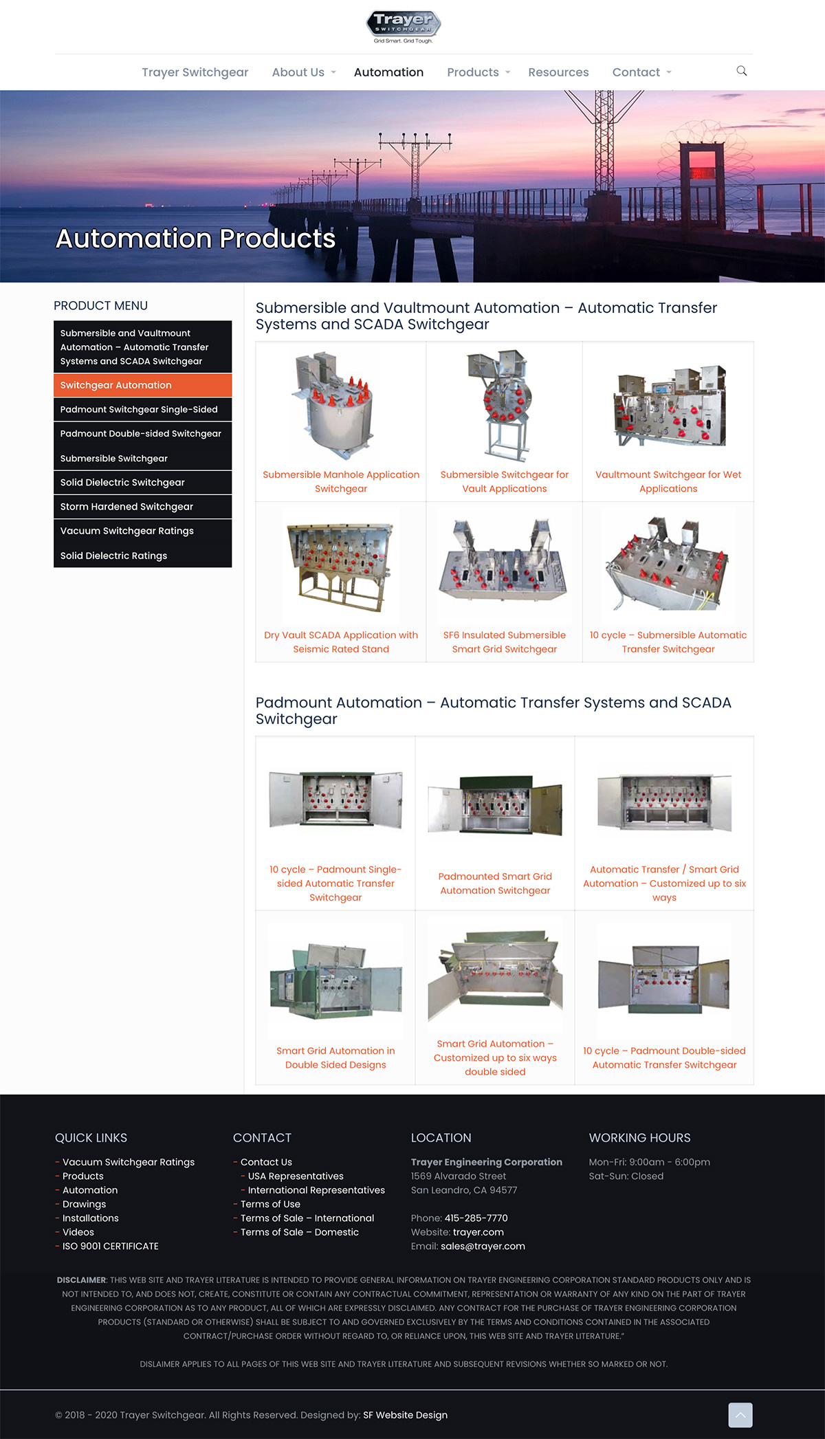 Product Page Trayer Engineering mockup design