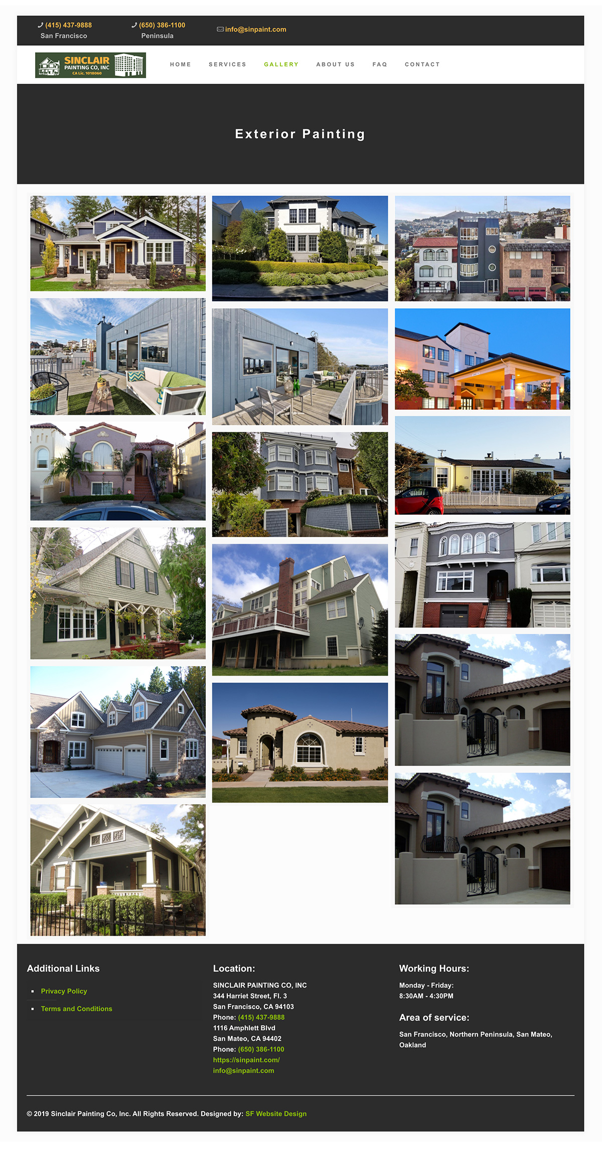 Gallery page Sinclair contractor in San Francisco