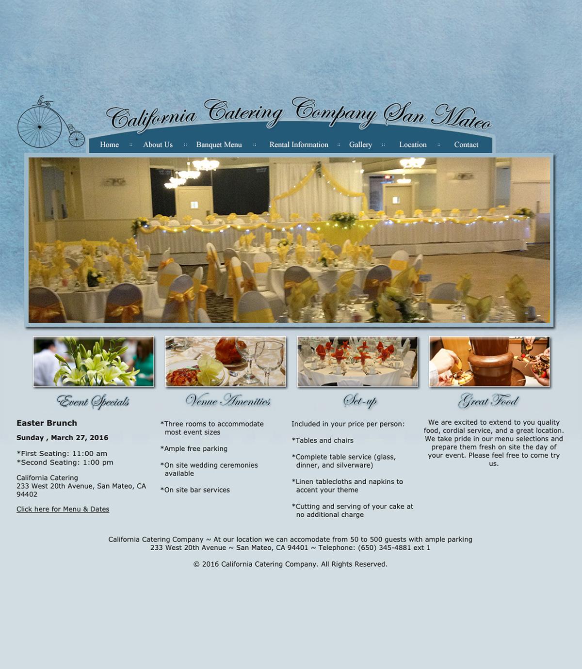 California Catering San Mateo - Before Design
